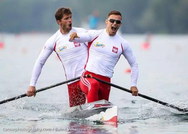 Tomasz Kaczor (z przodu) i Vincent Słomiński - fot. canoephotography / Balint Vekassy (ICF